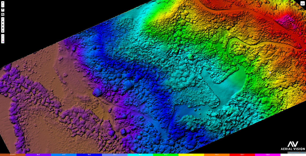 Elevation Model created from Aerial Survey