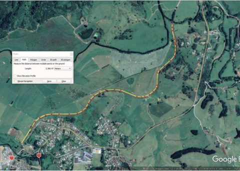 Twin Coast Cycle Trail Aerial survey